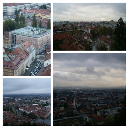 The view from Ljubljana Castle