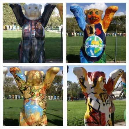UN Buddy Bear, Palestine, Slovenia, Russia, Germany